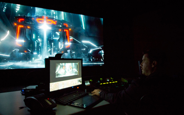 Colorist David Cole Grading Tron
