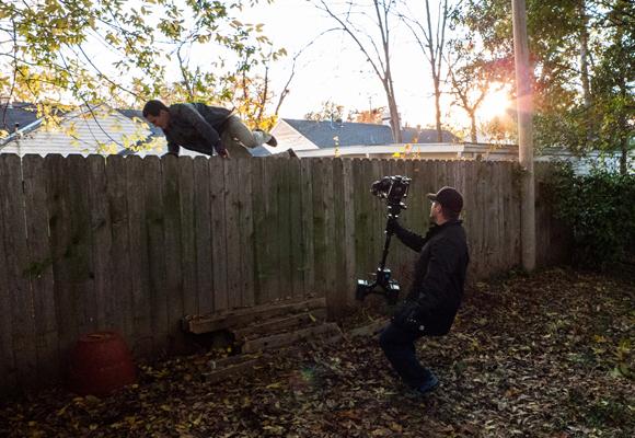 Ric Waugh operating the POGO camera