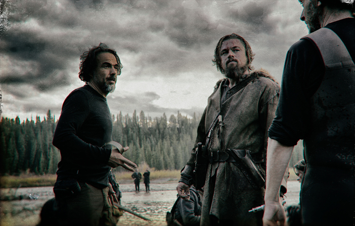 Iñárritu directs DiCaprio on set