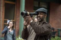 Director Denzel Washington on the set of 'Fences'